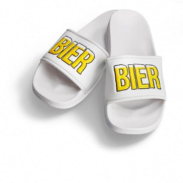 Bier Badelatsche weiss/gelbe DF 48