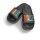 Malle Badelatsche schwarze/bunte Druckfarbe 48
