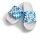 Bayern Badelatsche weiß/blau weiße Druckfarbe 45