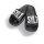 Sylt Badelatsche schwarz/weiße Druckfarbe 45